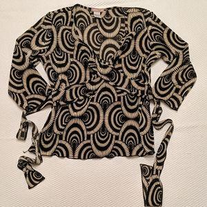 Vintage psychadelic wrap top